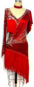 Crimson Flare Dress 1