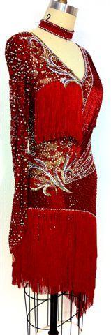 Crimson Flare Dress 3