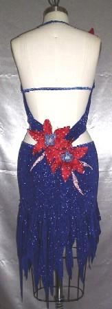 Royal Blossom latin rhythm dance dress