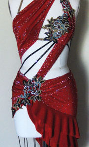 Dangerous Beauty latin dress front
