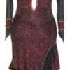 Fiery Elegance latin ballroom dress for competition back