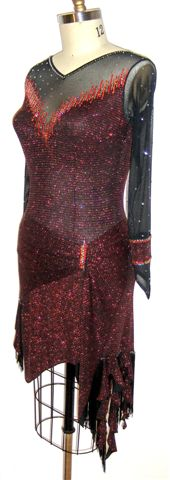 Fiery Elegance latin ballroom dress for competition