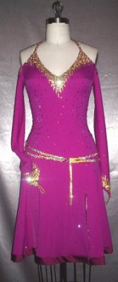 Metro Bliss ballroom competition latin dress