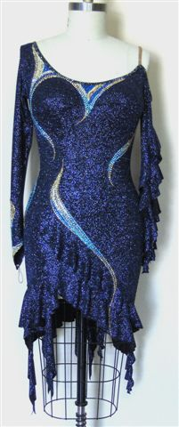 Midnight Illusion plus size competition rhythm dress front