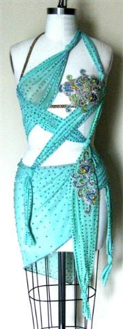 Fantasy Mint latin Dress custom