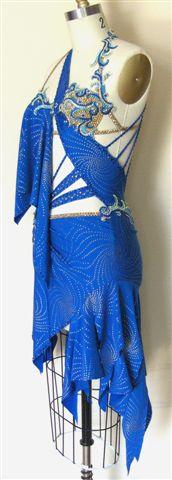 Mystic Sea designer competition latin dress left side