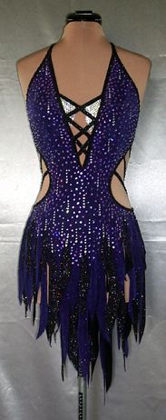 Purple Rain Latin Dance Costume by Zhanna Kens