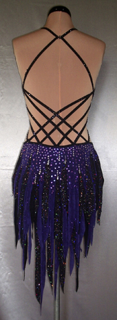 Purple Rain Latin Dance Costume by Zhanna Kens