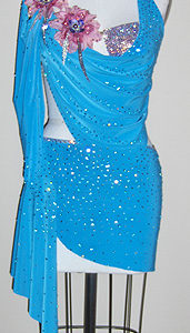 Romance dancesport latin dress by zhanna kens