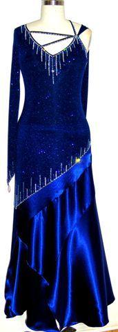 Sapphire Blue ballroom dancing gown