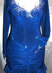 Starburst Latin Dance Dress by Zhanna Kens