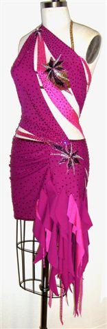 Unleashed Destiny custom made latin dress side