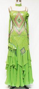 lime green standard ballgown
