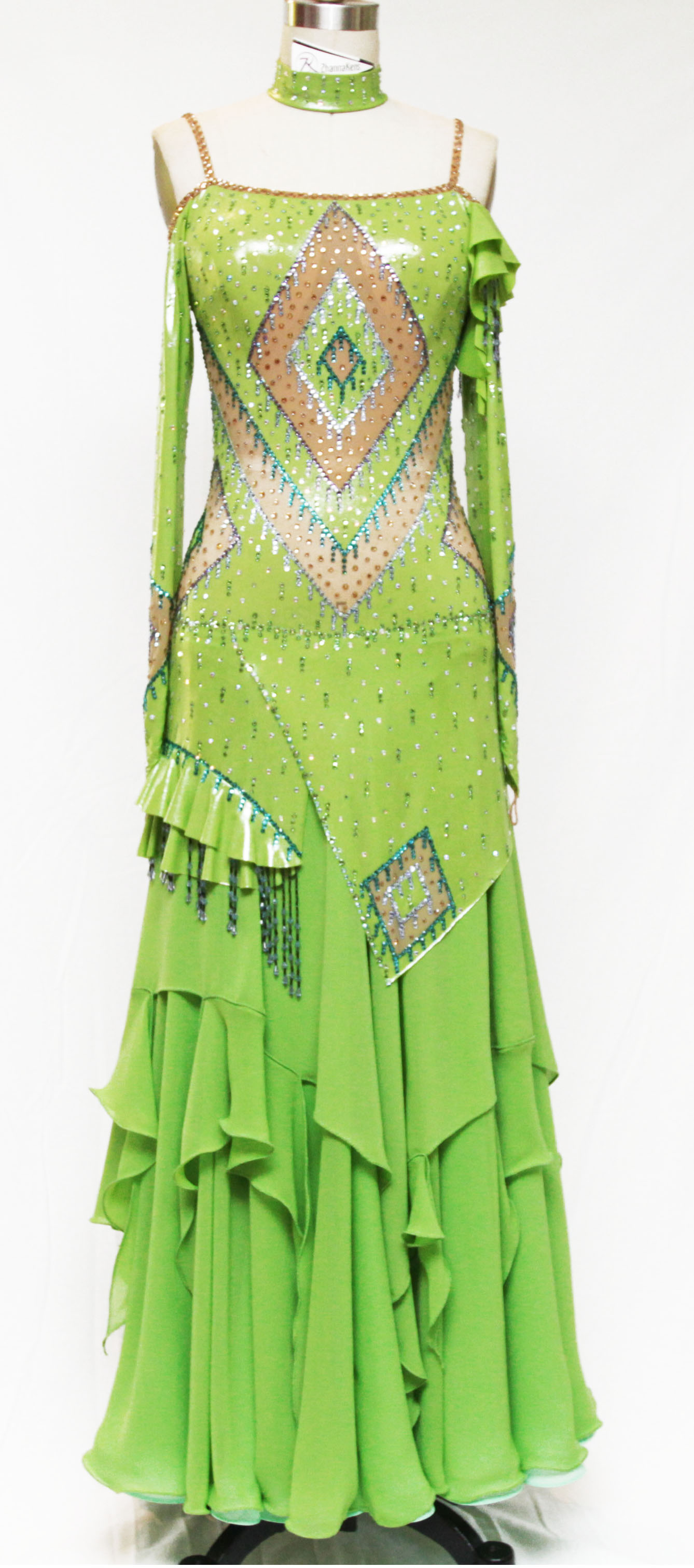 Lime Green Standard Ballroom Dress \