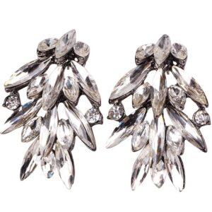 Ballroom Dancing Rhinestone Earrings Style 13