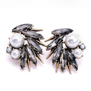 rhinestone earrings with pearls style 14