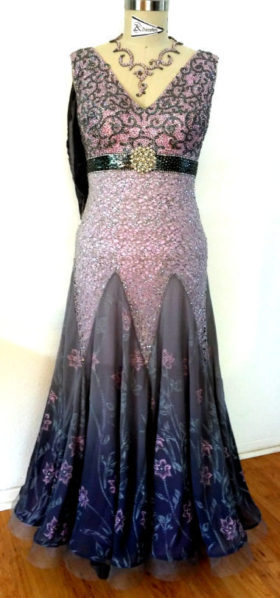 competition ballroom dance dress front