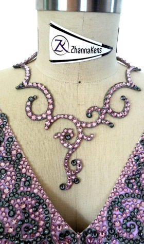 pink swarovski crystal necklace